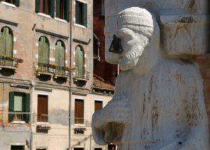 The statue of Rioba in Campo dei Mori, Venice