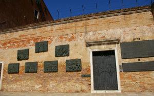 The Holocaust Memorial by Arbit Blatas in the Jewish ghetto of Venice