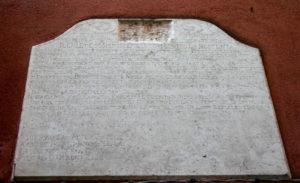 Inscription in the Jewish ghetto of Venice