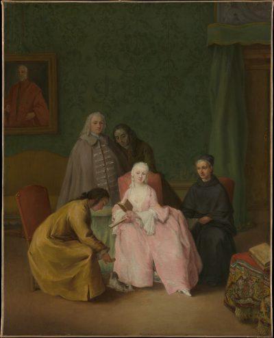 a venetian noblewoman by Pietro Longhi