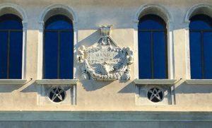 Facade of the Fondaco dei Tedeschi in Venice