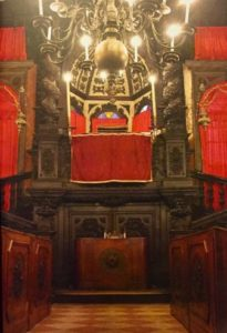 Interior of the Levantine synagogue in the Jewish ghetto of Venice