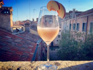 A glass of Bellini, Venice