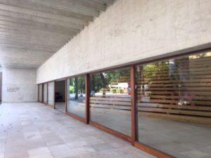 Detail of the Nordic Pavilion by Sverre Fehn at Giardini della Biennale, Venice