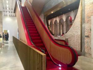 Fondaco dei Tedeschi, escalator by Rem Koolhaas