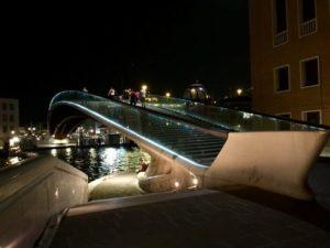 Venice, Ponte della Costituzione at night