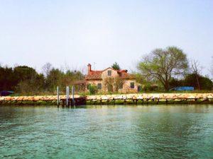 View of Mazzorbetto in the Venetian Lagoon