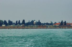 View of the island of San Michele, the cemetery of Venice