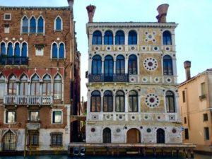 facade of ca' Dario on the Grand Canal