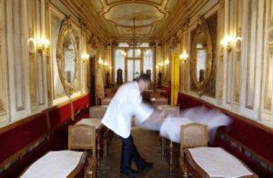 Interior of the café Florian, Venice