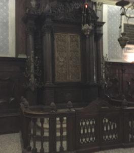 Interior of the Italian synagogue in the Jewish ghetto of Venice