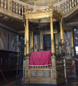 Interior of the German synagogue in the Jewish ghetto of Venice