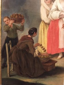 Fritters vendor in a Venetian painting