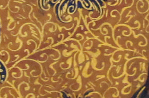 Detail of a textile design from Paolo Veneziano, Coronation of the Virgin