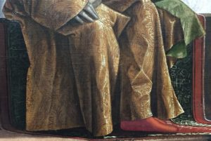 Detail of the robe of the King of Brittany from the Cycle of Ursula by Carpaccio