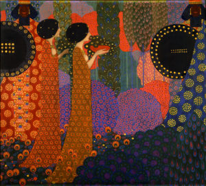 "detail of ""Le Mille e Una Notte"" by Vittorio Zecchin in the Museum of Modern Art in Ca' Pesaro, Venice"