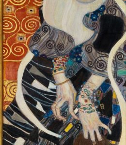 detail of Judith 2 by Klimt at the Museum of Modern Art in Ca' Pesaro, Venice