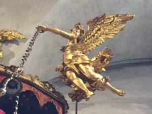 angel by Brustolon in the Frari Church
