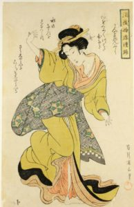 ukiyoe print by Kikugawa Eizan in the Museum of Oriental Art in Venice