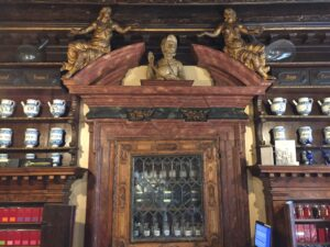 The historical pharmacy All'Ercole d'Oro in Venice