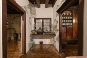 18th century pharmacy in the museum of Ca' Rezzonico in Venice