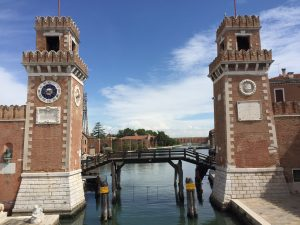the main gate of the Venice Arsenale