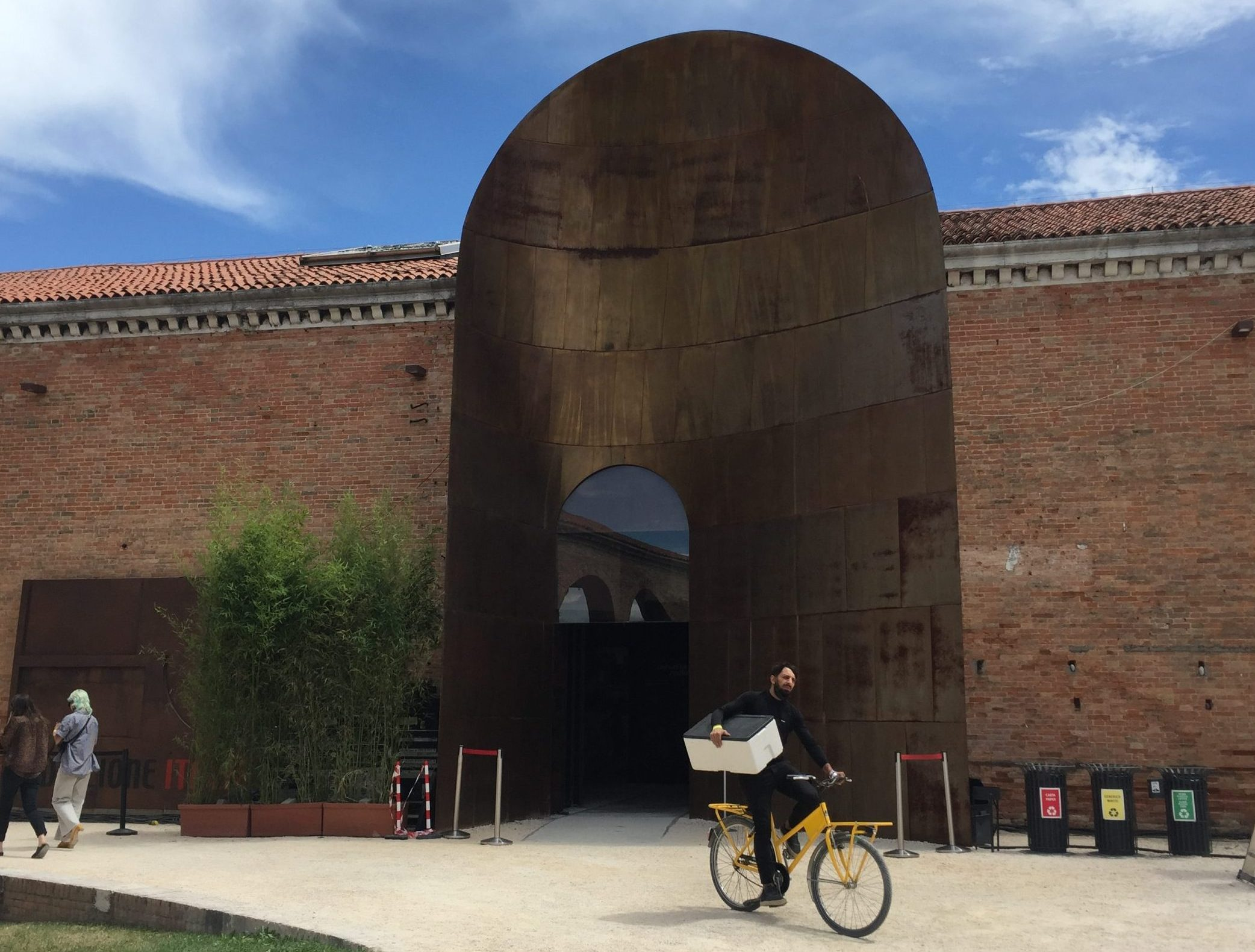 The entrance gate to the Italian pavilion at Venice Arsenale, designed by Cino Zucchi