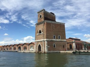 The tower by the new access of the Arsenale of Venice